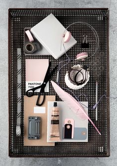 Soft Pink and Grey by Line Klein