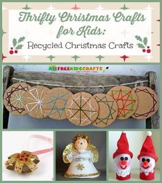 With this collection of Thrifty Christmas Crafts for Kids: 26 Recycled Christmas Crafts, you can find a way to use toilet paper rolls, egg cartons, and more to create adorable Christmas ornaments, homemade decorations, and other fun Christmas crafts for kids! | AllFreeKidsCrafts.com