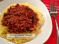 Peace, Love, and Low Carb: Tomato Meat Sauce Recipe and my new Spirelli Spiral Slicer! (Low carb, Paleo, Gluten Free)