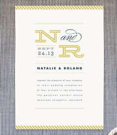 Nautical Wedding Invitations | Blue Wedding Invitations | Striped Wedding Invitations