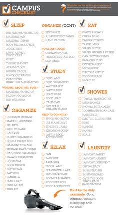 College Checklist - Bed Bath & Beyond