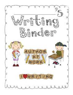Cute writing binder cover