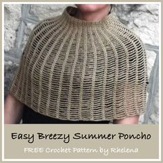 Easy Breezy Summer Poncho ~ FREE Crochet Pattern Written for child or Extra Small Adult, but would be simple to resize to any size.