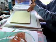 istencils with Gelli printing plate -