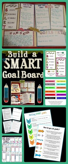 Great for back to school!!! Have your students create a SMART goal board using this product and manila folders! $