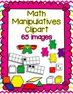 Math Manipulatives Clipart. Cost $5.