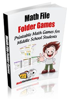Math File Folder Games for Elementary & Middle School Math.