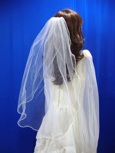 Veils Pearl edge veils one layer pearl edge veil by Hoalanebridal, $32.00 #wedding #brides #veil