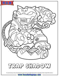 Skylanders Swap Force Magic Trap Shadow Coloring Page More