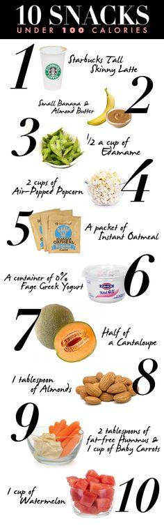 10 #healthy #snacks under 100 calories