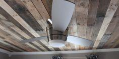 Rustic Pallet Wood Ceiling Tutorial