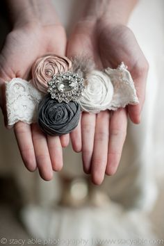 Vintage Inspired Couture Wedding Garters By Emily Riggs Bridal  www.emilyriggsbridal.com
