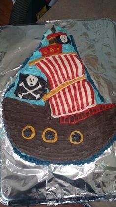 Pirate cake.  My first cake!