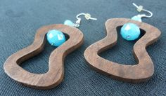 Wood Earrings Ethnic Jewelry Ethnic Earrings Wood by SacredGemz