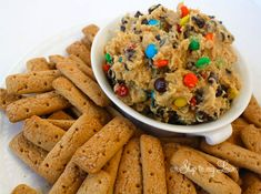 monster cookie dough dip (I'd sub 8oz vanilla frosting for the cream cheese)