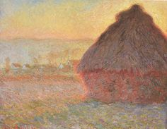 Grain Stack. (Sunset) by Claude Monet