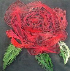 String art rose