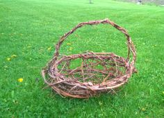 This is one of the grapevine baskets that I have made.