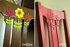 Faux Decorative Molding Chair - use foam stickers!!