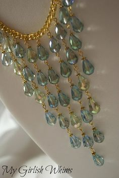 Awesome necklace tutorial from My Girlish Whims! #mermaid #sparkle