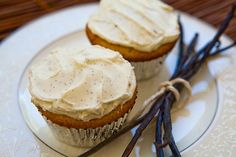 Double Vanilla Cupcakes.  good frosting recipe too.