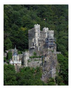 Rheinstein Castle  .  Rhine River, Germany