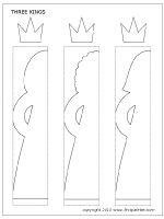 Three kings chain template