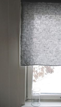 Do this in place of valance blind. linen curtains