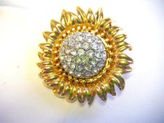 Designer Joan Rivers Starburst Sunflower Crystal by parkledge, $75.00