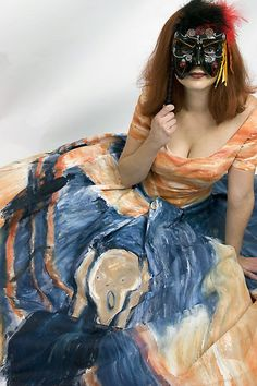 Masquerade Ball Gown based on The Scream by Edv...
