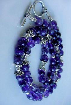 Amethyst Sterling Silver Necklace, Bracelet, and Earring Set