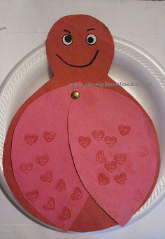 valentine craft ladybug