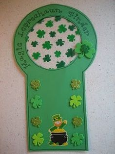 St. Patricks Day Crafts - Pinned by #PediaStaff. Visit ht.ly/63sNt for all our pediatric therapy pins