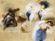 Sketch for The Death of Sardanapalus - Eugene Delacroix