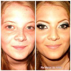 Before e after da makeup feita pela Renata Silvano - Re Make Up Artist https://www.facebook.com/remakeupartist  #makeup #beforeaftermakeup #beauty #makeover