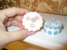Tiny cupcakes from paper and battery operated tea lights.  So cute.