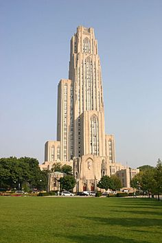 Cathedral of Learning on the University of Pittsburgh campus. Inside you'll find 29 working classrooms decorated and dedicated to the various ethnic groups throughout the city.