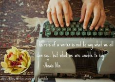 The role of a writer...
