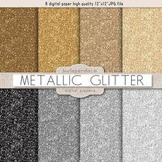 Glitter metallic by burlapandlace on Creative Market gold shade