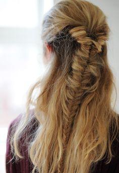 Half Fishtail   #fishtail #braid #hair