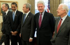 Five Living Presidents!  Happy Presidents Day!
