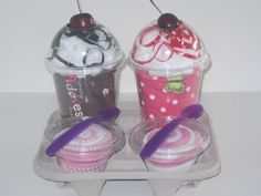 Onesies and washcloths. Cute shower or housewarming gift.