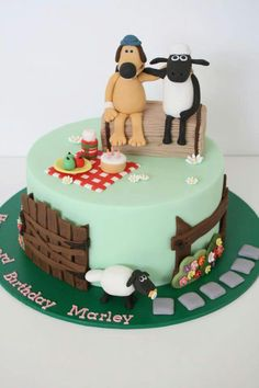 Shaun the sheep Birthday Cake ♡ ♡ ♡ ♡