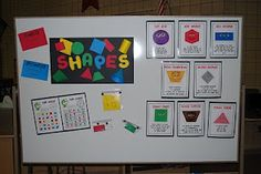books, teaching shapes, shape activities, monster, math centers, lunch kids, game, classroom ideas, printabl