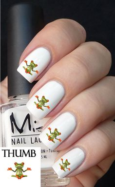 Meditating Frog nail decal by DesignerNails on Etsy, $3.95