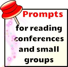 Free prompts for reading conferences and small groups!