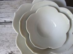 White Porcelain Lotus Bowls