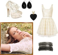 """""""Black & Lace"""" by libbysstyle on Polyvore"""