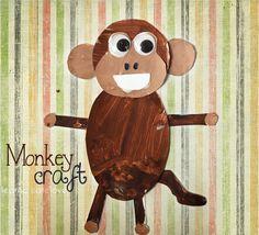DIY monkey craft project