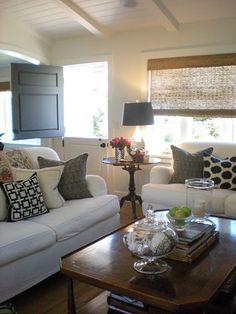 pillows, dutch door, ceiling, blinds